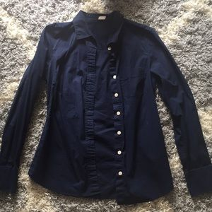 Navy J Crew Button Up